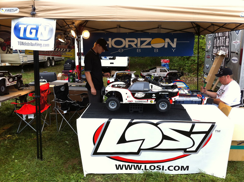 Brand new Losi 5IVE-T on display for all to touch and feel.