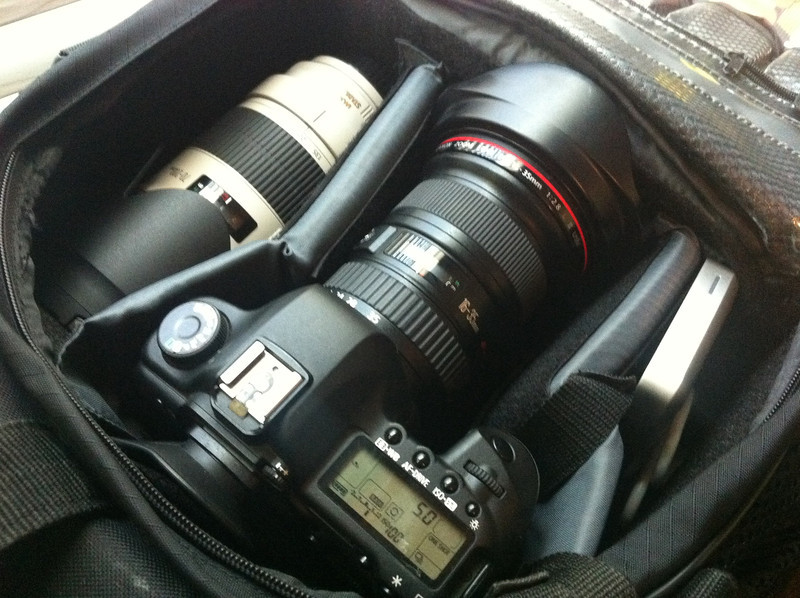Packing up photo gear for Hostile.