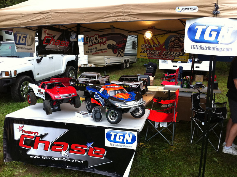 TeamChase and TGN setting up their side of the pit/display area.