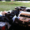 A couple Losi 5IVE-T's waiting to be bashed!