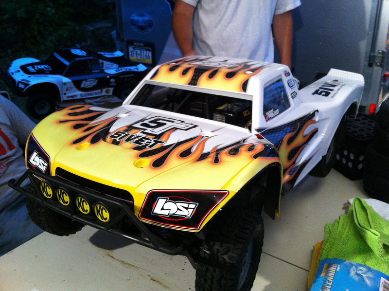 Losi 5IVE-T 4WD with custom wrap for Richard from Losi