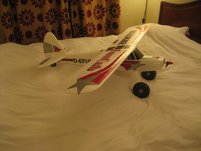 This is the 2nd Multiplex Funcub that i have now built and the 15th plane in total, they are a fabulous plane, and my original one had exactly 300 flights on it, and was sold on Ebay for virtually what i paid for it. This Funcub is fitted with an MVVS 3.5 960Kv motor, which is a top quality Czech motor and really silky smooth. Sotog alloy motor mount, Turnigy Plush 40 amp ESC and a TGS sport 10 X 6 propeller it is producing about 220 Watts.