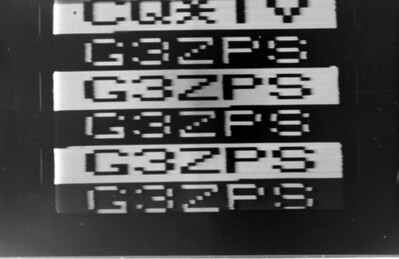 G4CDM SSTV generator, photographed from G3ZPS long persistance CRT SSTV monitor - late 70's