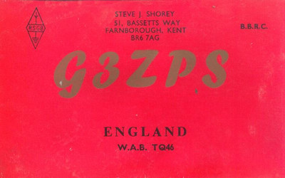 Steve's QSL card from 1971