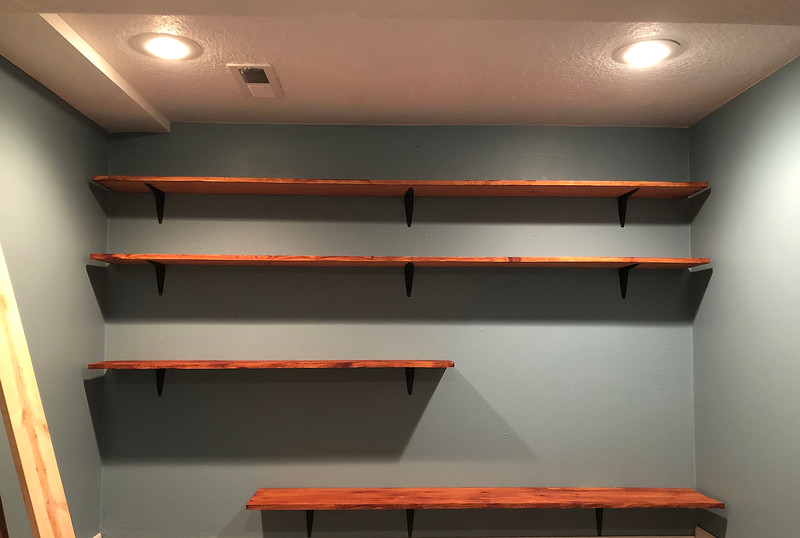 Put up the shelves