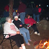 Plenty of chat around the campfire