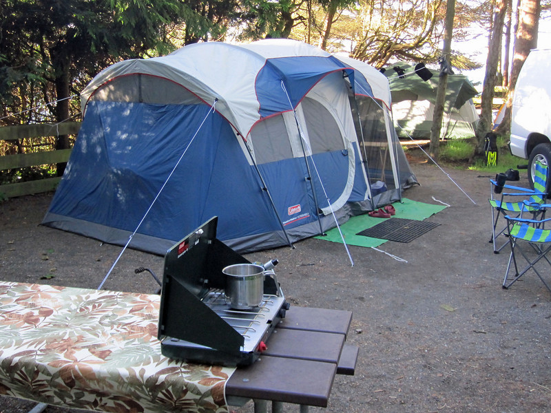No more camping in pup tents for me!  Home sweet home for four days at Salt Creek County Park with the Emerald Sea Dive Club (Labor Day weekend, 2010).  Weather was great; no rain Thursday through Sunday (unusual for the Pacific NW!)