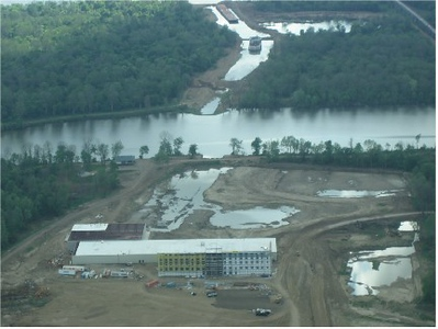A look at the Casino, with our clubhouse along the lake.