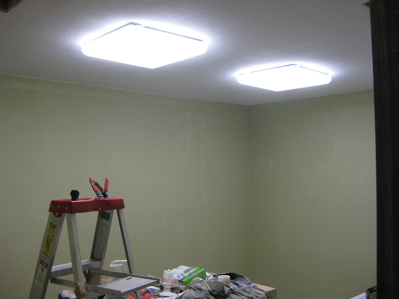 New lighting and starting to paint.