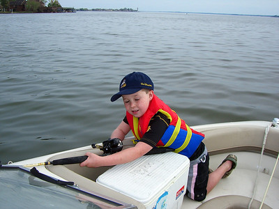Remington's 1st Fishing Trip -- Lake Conroe  March  2007