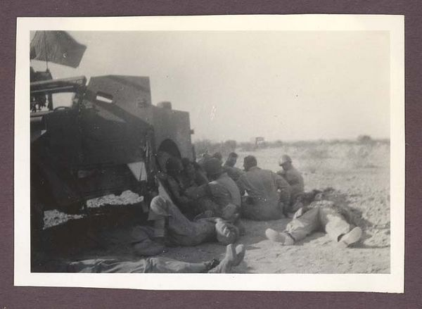 1942 photograph depicting soldiers of the 3rd Armored Division