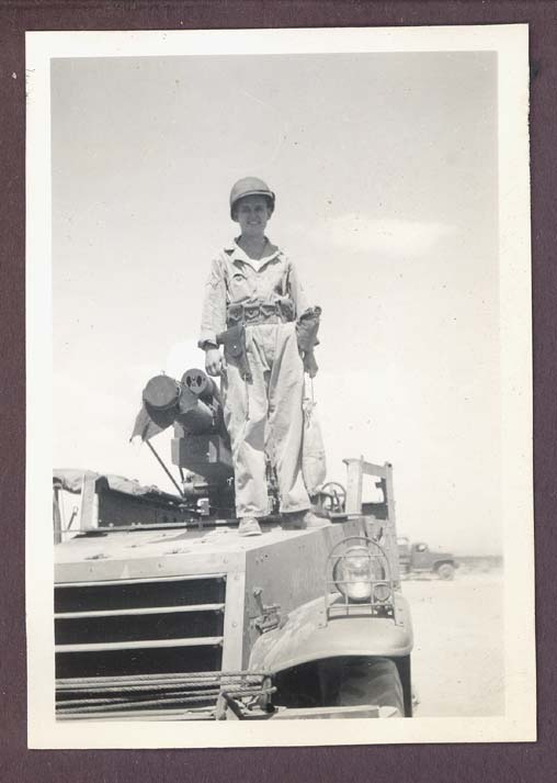 1942 photograph depicting a soldier of the 3rd Armored Division