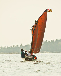 Summer sail, red sails Phippsburg Maine
