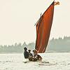 Summer sail, red sails Phippsburg Maine