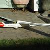 Bolt on aerotow/landing wheel.  My design.  Stress tests went good - need to aerotow now!