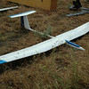 "10 Ft wingspan Airtronics Legend sailplane with 51"" stryker and 66"" sparrow sailplanes in background."