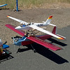 Fox sailplane at the Joseph airport runway in Oregon preparing to be piggyback launched by wild Bill Miller's Seniorita RC plane.  COOL!