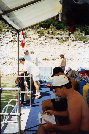 Scuba Diving at Lake Travis 9-16-96