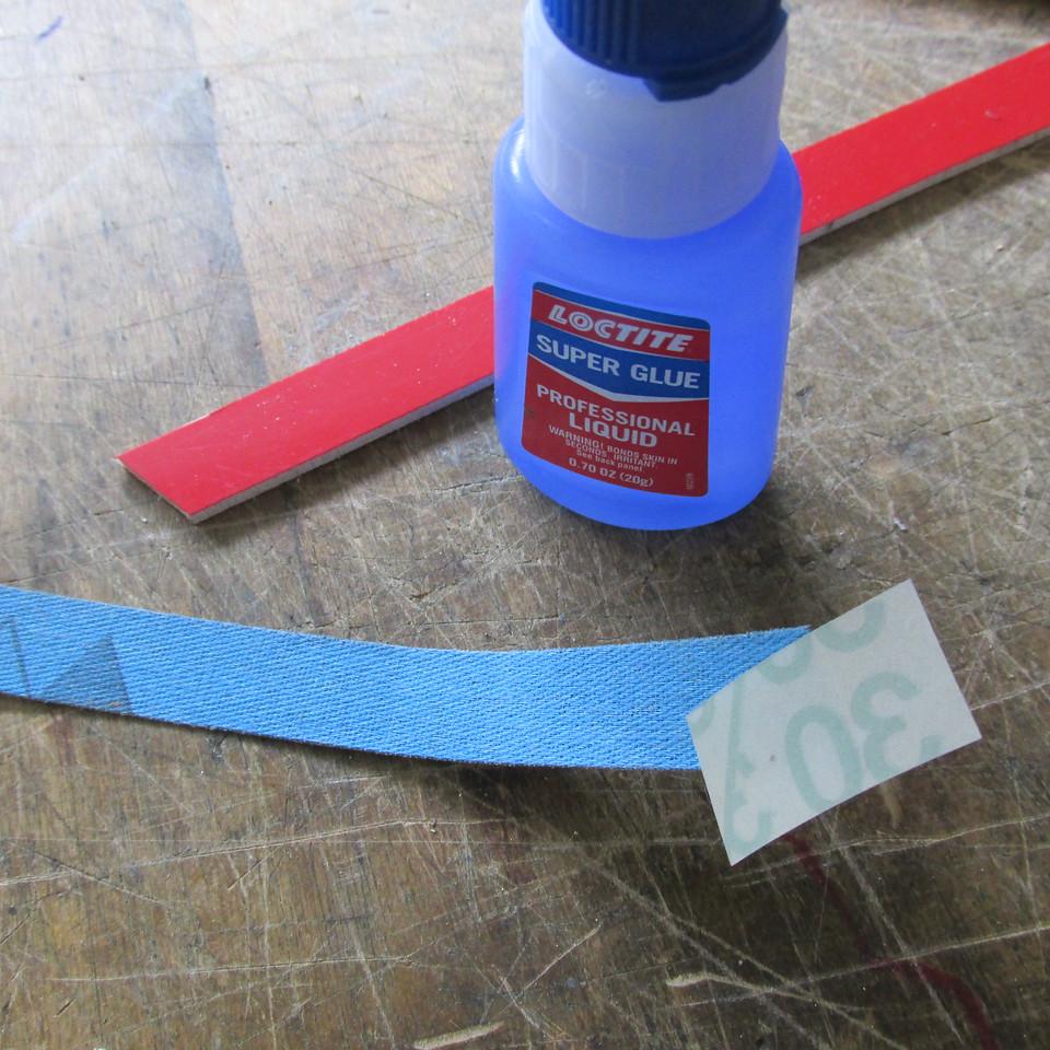 Small piece of mi-liar ready for super glue.