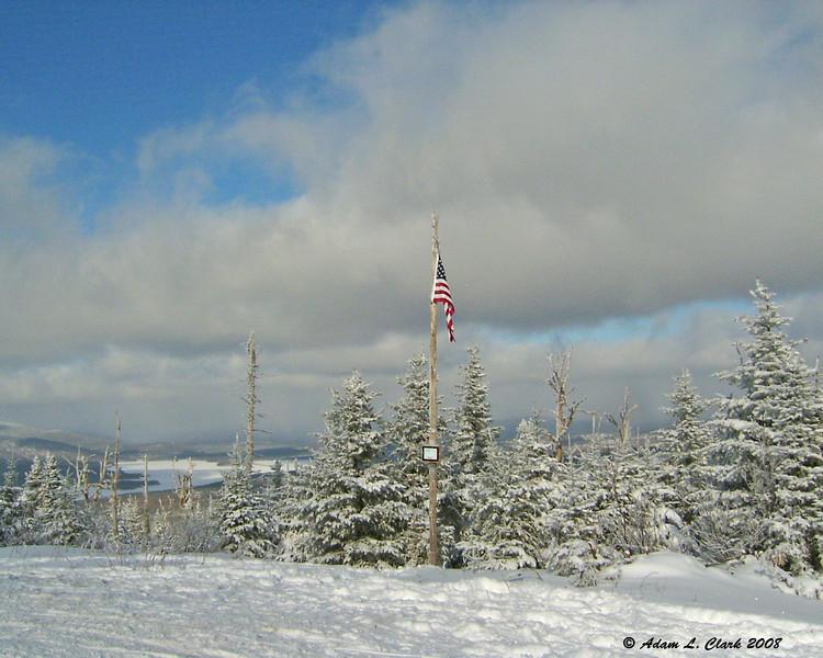 The flag on Diamond Ridge<br /> 1/26/08