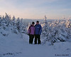 Melissa and I at the top of Dixville Peaks<br /> 1/26/08