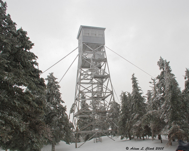 The fire tower at the top of Mt. Magalloway.<br /> 3/9/08