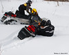 Jim found a sink hole and fell off to the side of his sled