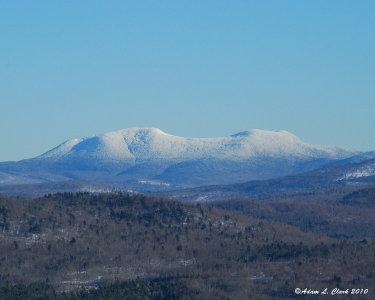 Snow covered mountains on the NH/ME line