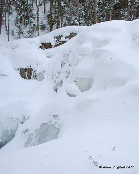 "The frozen waterfall  To see what Garfield Falls looks like in the summer, go <a href=""http://sdways01.smugmug.com/Travel/Maine-Camping-7-10/Garfield-Falls/"">here</a>"