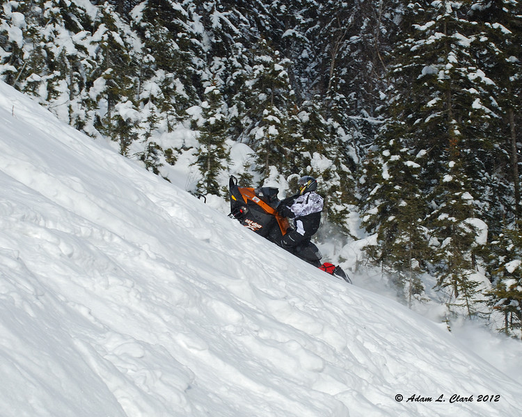Jim making a run up the slope
