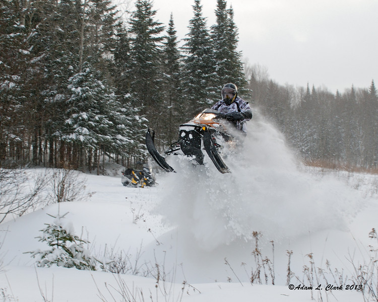 My uncle jumping the ditch