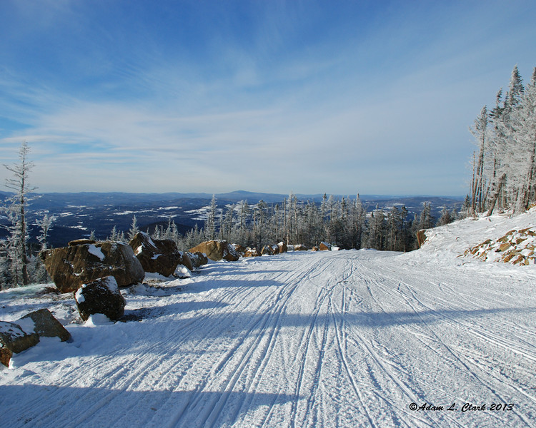 View northwest from the end of where the snowmobiles are allowed