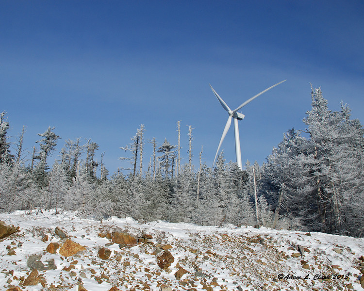 This year you are able to get much closer to the windmills on the summit than last year when they were new