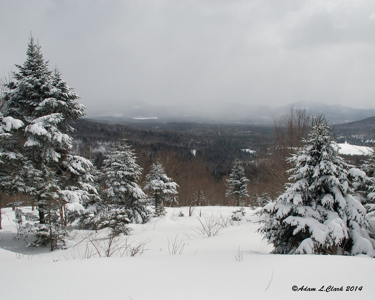 Later in the day, Jim and I rode near camp.  This is the view from the top of a fun hill to climb with a snowmobile