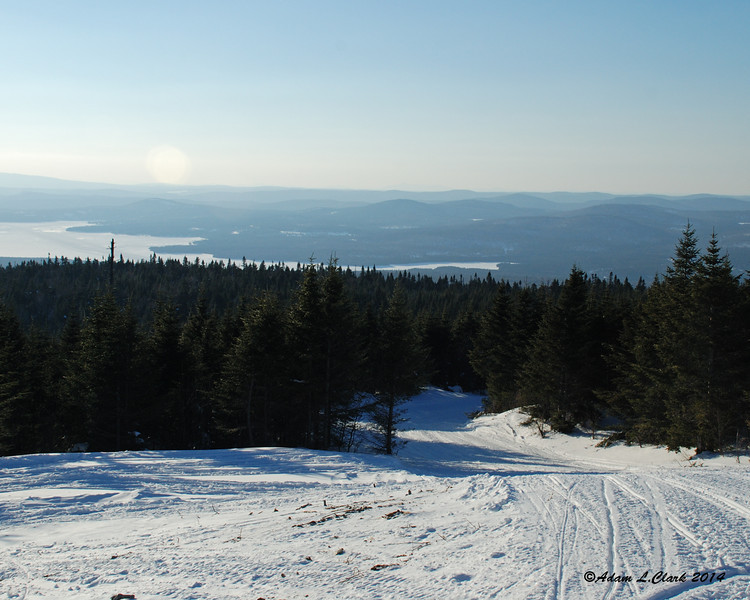 View to the northwest with the upper end of the First Connecticut Lake