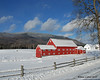 In Colebrook, A big red barn sits in front of Monadnock Mountain just on the other side of the state border with Vermont