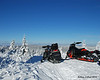 Mine and Jim's sleds at the top