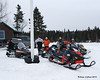 The sleds parked for another rest and bathroom break