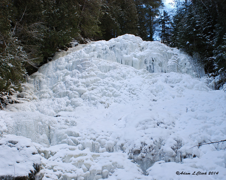 Beaver Brook Falls in Colebrook completely frozen over