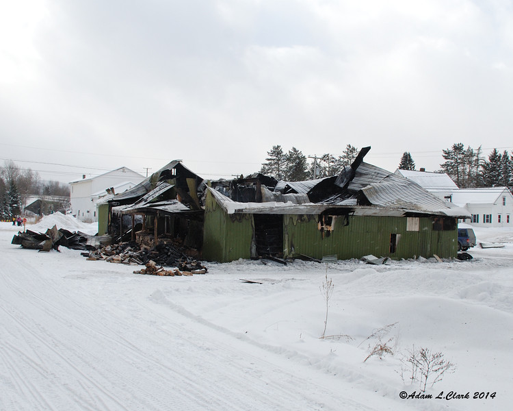 This building in West Stewartstown just burned this morning
