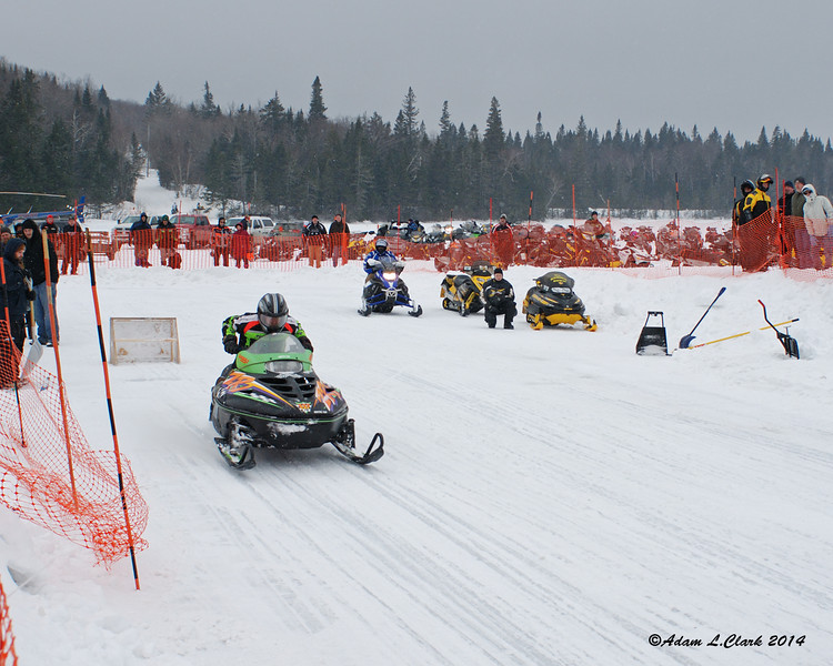The radar run was back this year.  Here and older Arctic Cat takes off down the run