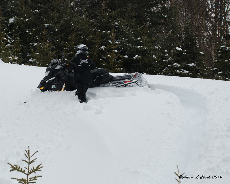 Dave now stuck on the hill