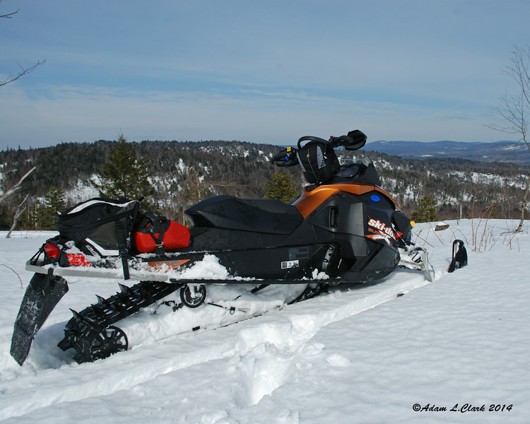 My snowmobile in the clear cut