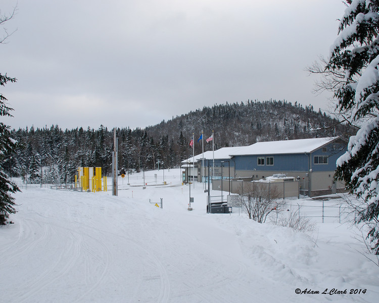 The border station between the US and Canada