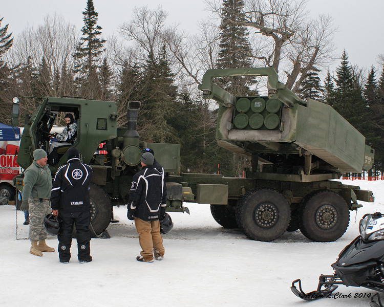 The National Guard was one of the sponsors and had equipment on display