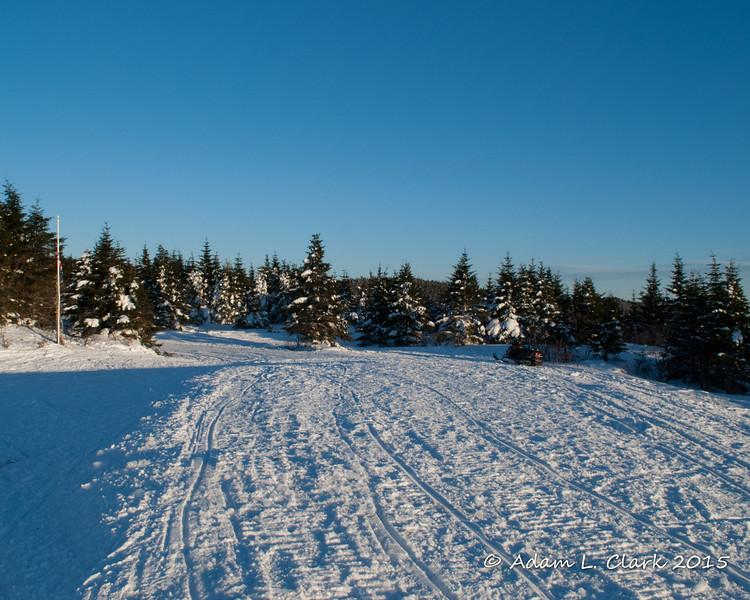 The large open area on Diamond Ridge