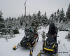 Two of our three sleds at the top