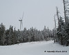 One of the wind turbines from as high up Dixville Peak as you can ride