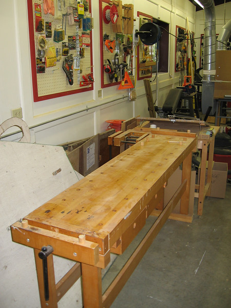 One of three very handy work benches