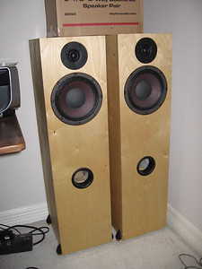 The Pi Speakers One Pi tower. A mini-review by a leading SET amplifier designer can be seen here: http://www.iol.ie/~waltonaudio/pione.html